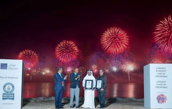 2019 Ras Al Khaimah New Year's Eve Fireworks  Captivates the World with a Breathtaking Spectacle