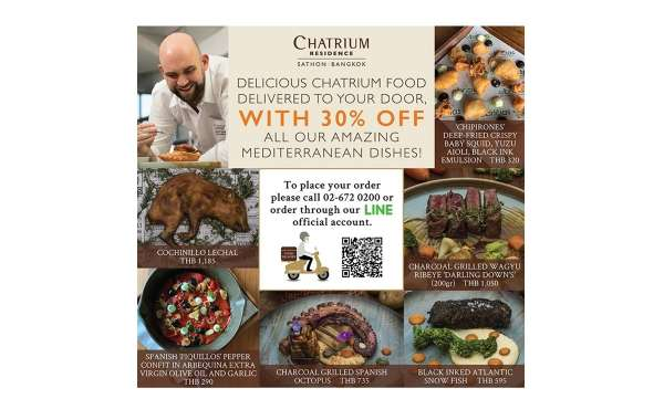 The New Food Delivery Service from Chatrium Residence Sathon Bangkok