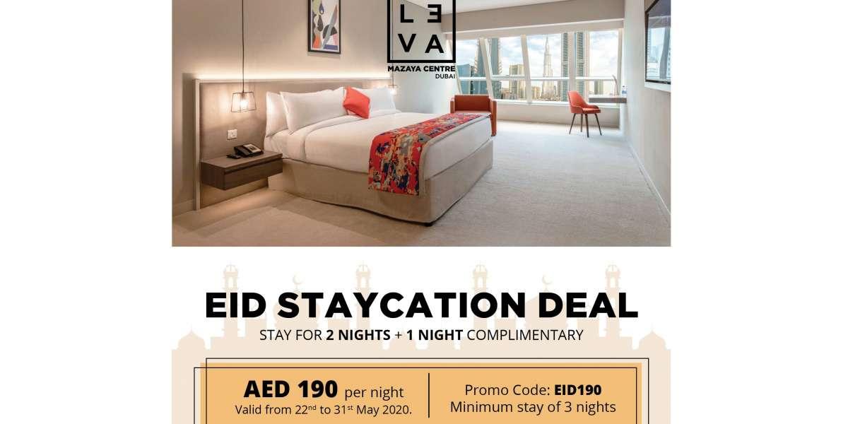 Celebrate Eid Al Fitr at LEVA Mazaya Centre Hotel in Dubai