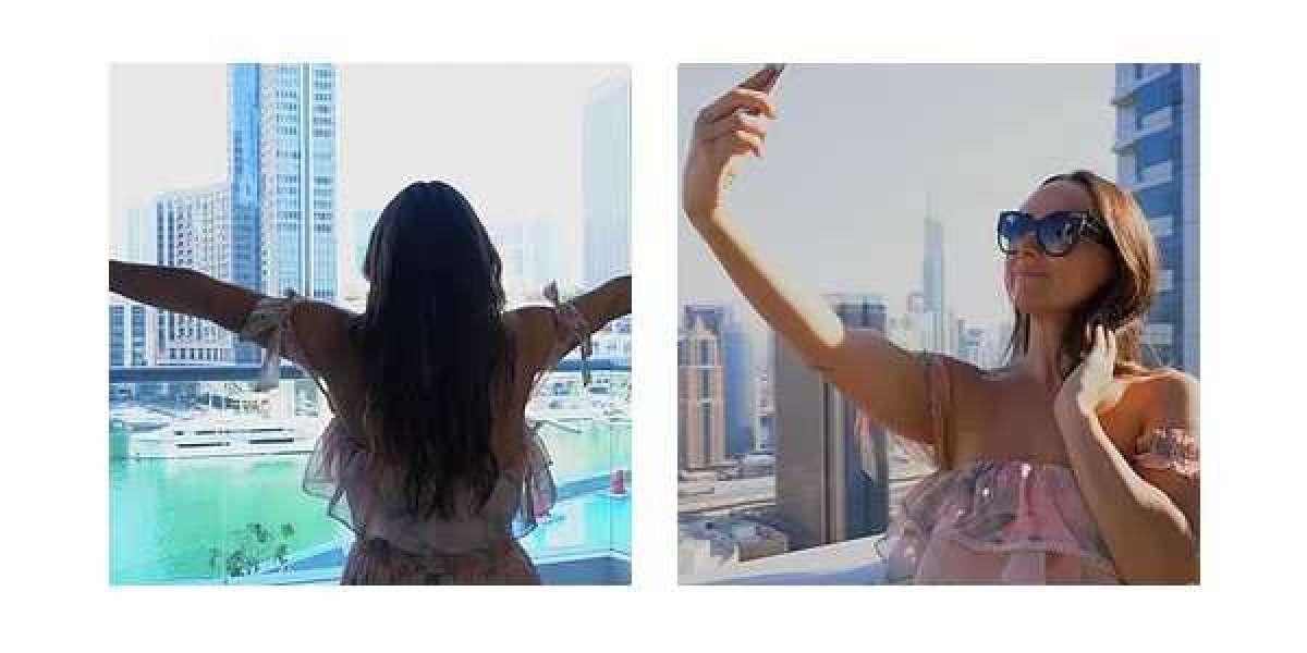 Emily in Dubai at Marina Social by Jason Atherton
