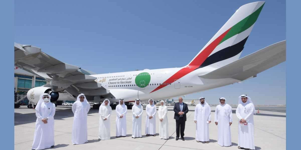 Milestone Flight EK2021 Highlights UAE's Impressive Vaccination Drive and Readiness for Travel Rebound