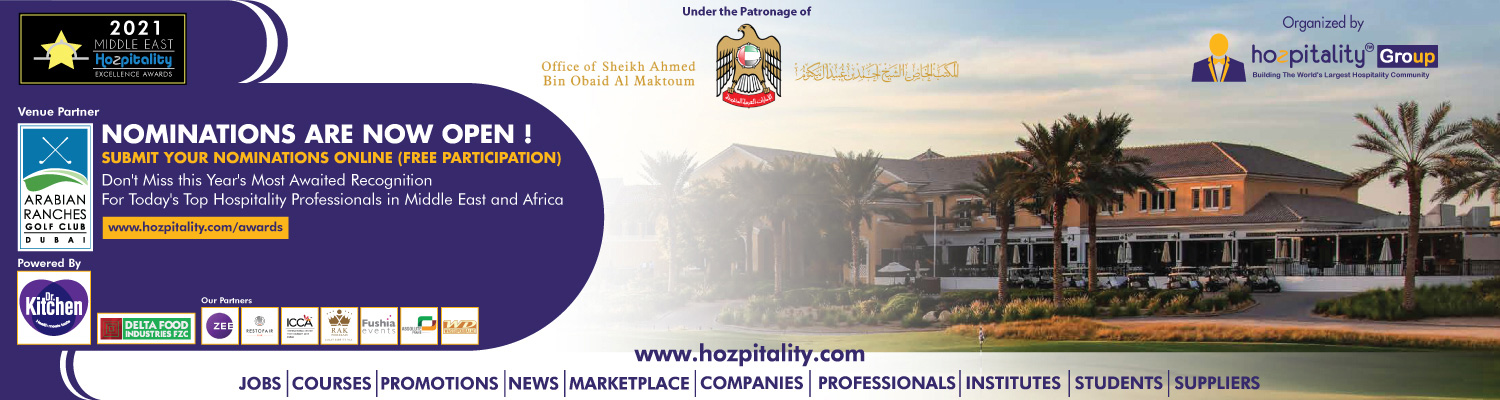 Middle East Hospitality Excellence Awards in 2021 Cover Image